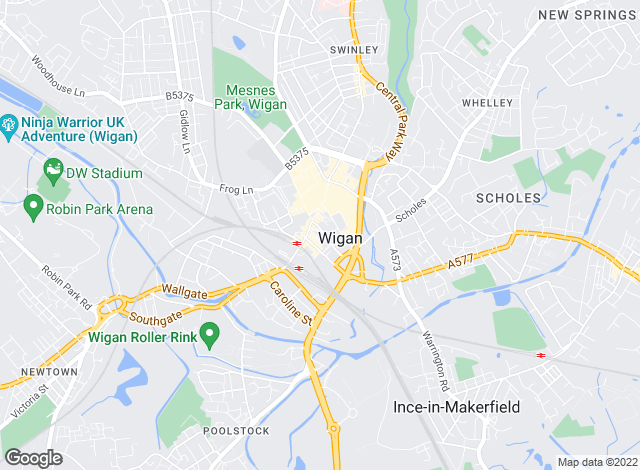 Map for Regan & Hallworth, Wigan
