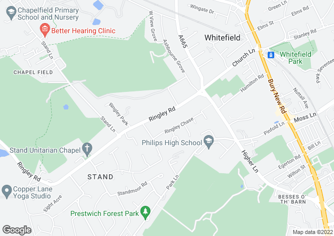 Map for Ringley Road, Whitefield