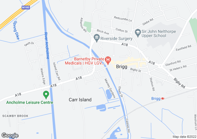 Map for Bridge Street, Brigg DN20