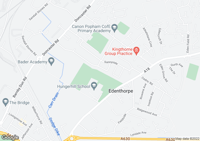 Map for The Boulevard, Edenthorpe, DONCASTER, South Yorkshire