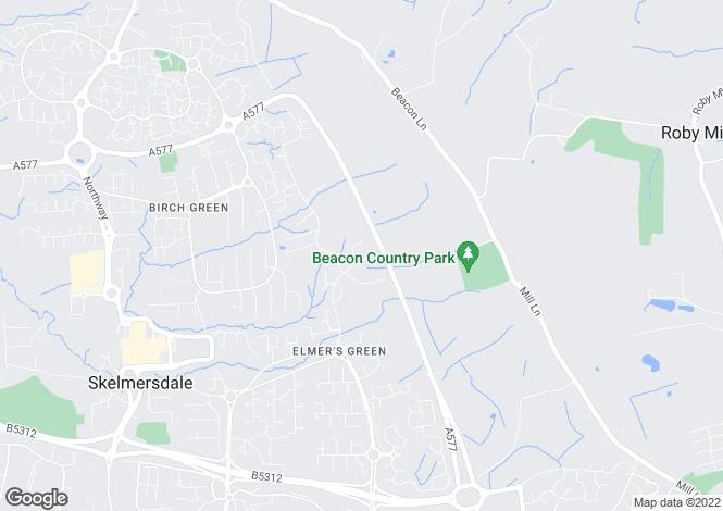 Map for Elmers Green, SKELMERSDALE, Lancashire