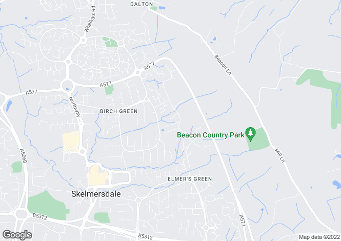 Map for Elmers Green, WN8