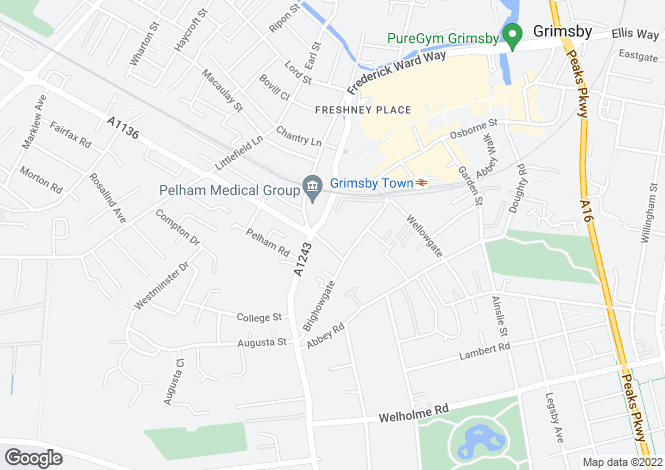 Map for Grosvenor Crescent, Grimsby