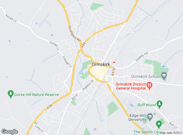 Map for Arnold & Phillips, Ormskirk