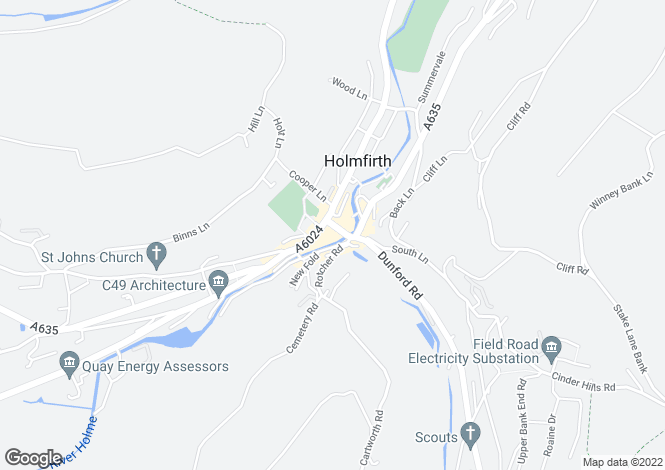 Map for 17 Victoria Street, Holmfirth Huddersfield HD9 7DF