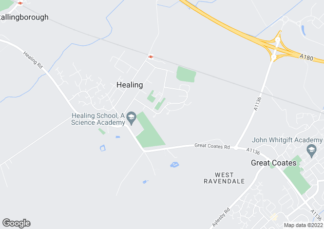 Map for RADCLIFFE ROAD, HEALING, GRIMSBY