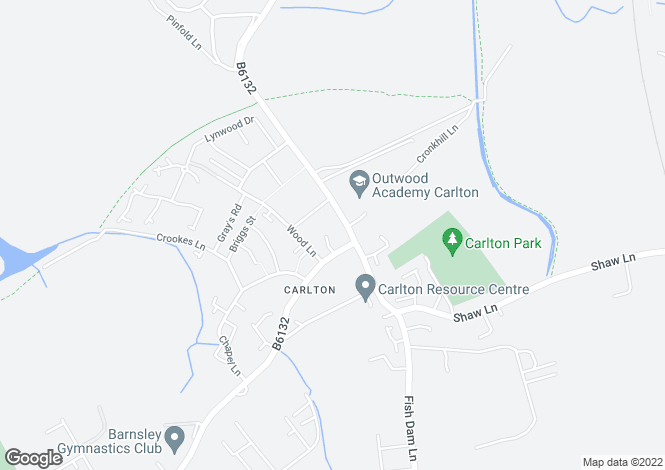 Map for Rectory Close, Carlton, Barnsley, S71