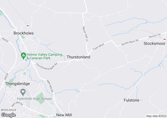 Map for Low Fold, Thurstonland, Huddersfield