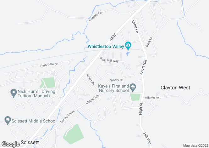 Map for Ings Mill Drive, Clayton West, Huddersfield, Hd8 9pw, HD8
