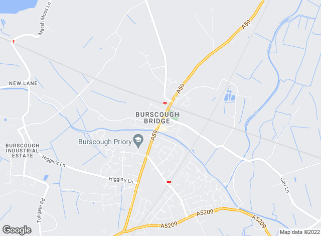 Map for Armitstead Barnett, Burscough