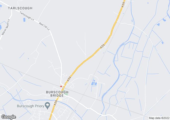Map for Moss Lane Burscough Ormskirk Lancashire