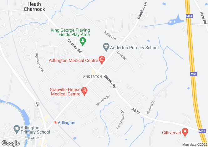 Map for Ashfield Court Ashfield Road, Anderton, Chorley, PR6