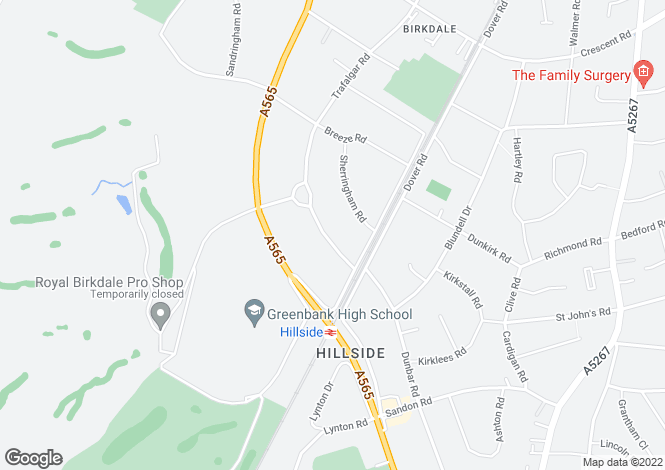 Map for Trafalgar Road, Birkdale, Southport, Merseyside, PR8 2NJ