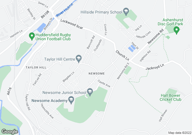 Map for Close Hill Lane, Newsome, Huddersfield HD4