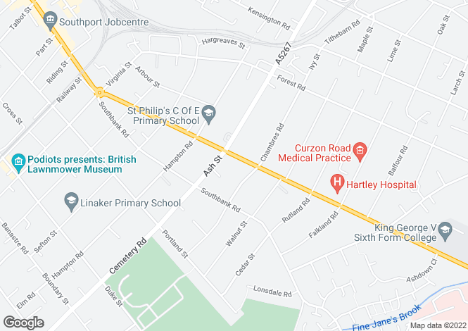 Map for Scarisbrick New Road, Southport, PR8