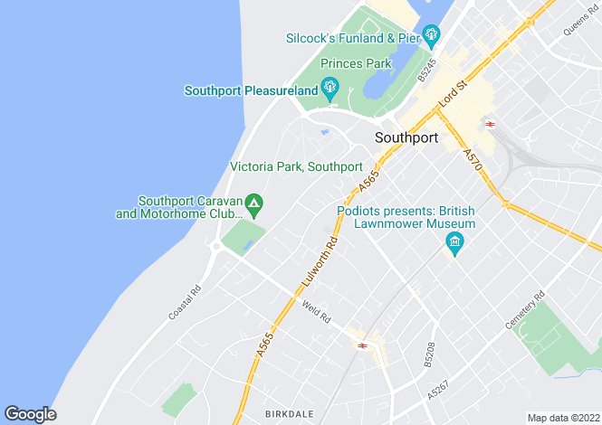 Map for Beach Mews, Off Beach Road, Rotten Row, Southport, Merseyside