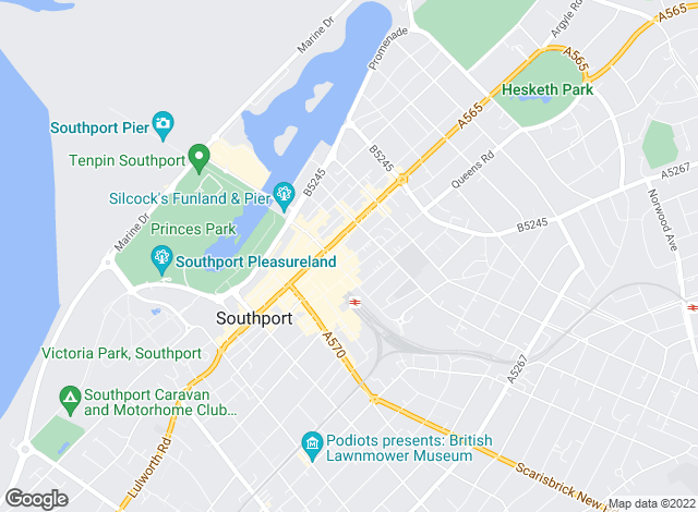 Map for Andrew John , Southport