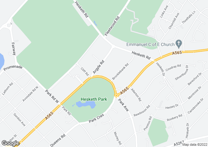 Map for Park Crescent, Hesketh Park, Southport, PR9 9LJ