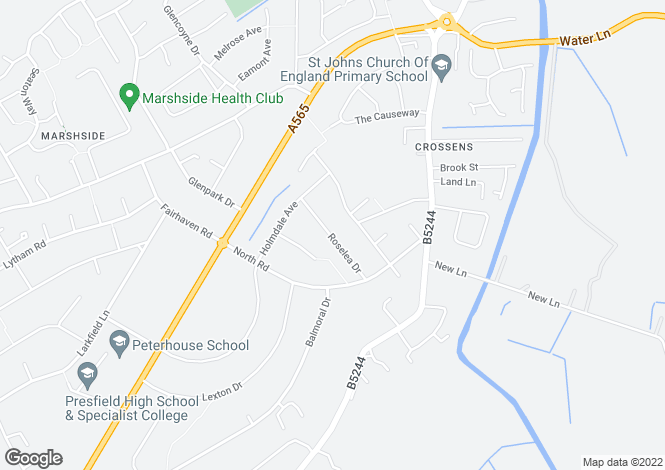 Map for Roselea Drive,