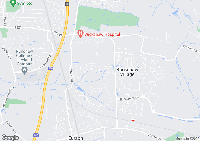 Map for Silverstone Street Buckshaw Village Chorley