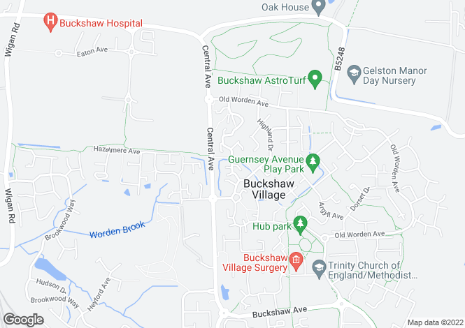Map for Durham Drive, Buckshaw Village, Chorley