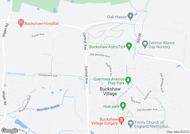 Map for Durham Drive Buckshaw Village Chorley Lancashire