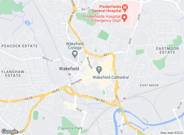 Map for Bairstow Eves, Wakefield