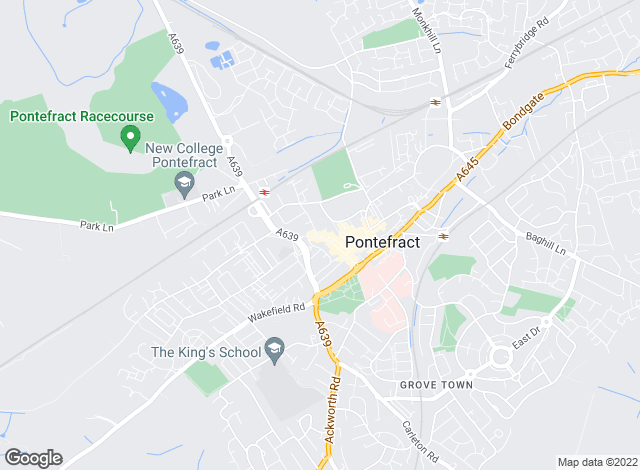 Map for Harrisons Estate Agents, Pontefract