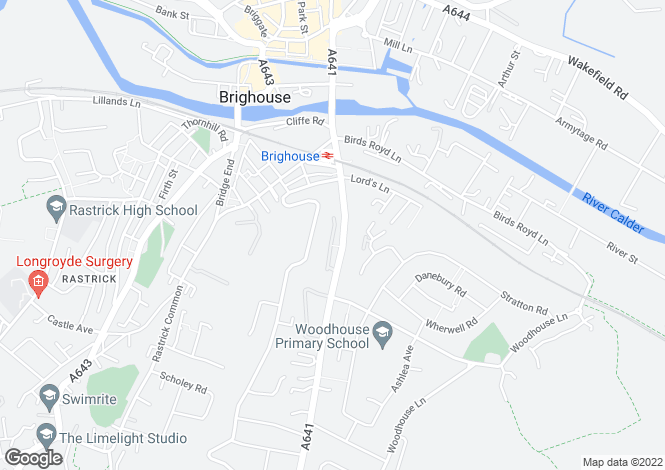 Map for Huddersfield Road, Brighouse, West Yorkshire, HD6
