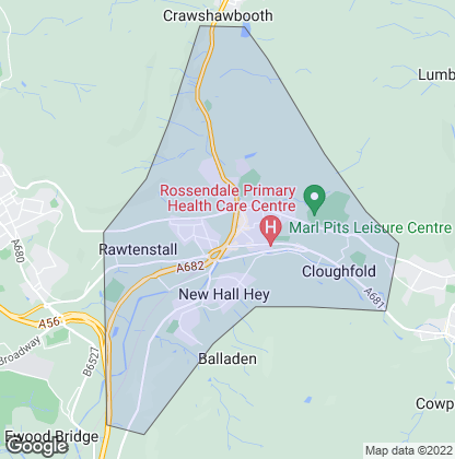 Map of property in Rawtenstall