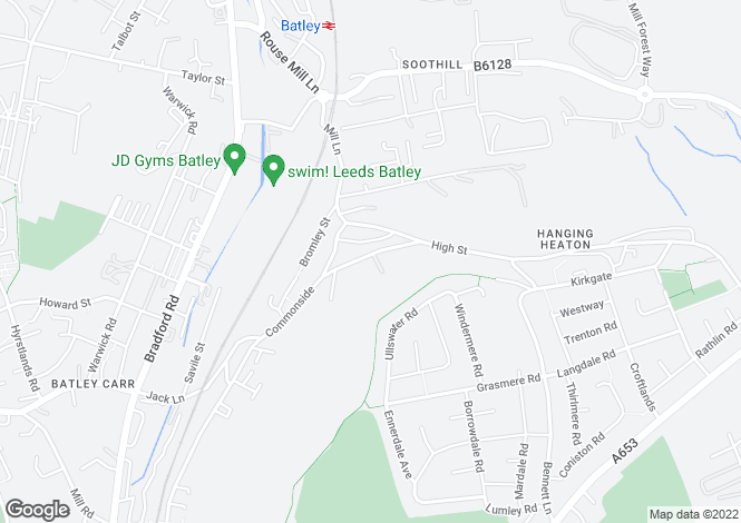 Map for Commonside, BATLEY, West Yorkshire