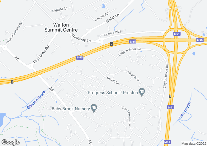 Map for Gough Lane, Bamber Bridge, PR5 6AQ