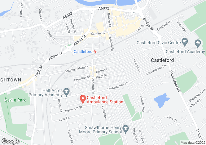 Map for Glebe Street, Castleford, Castleford