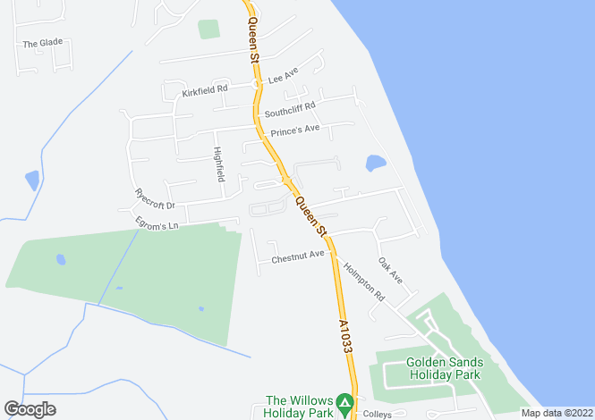 Map for Queen Street, Withernsea, HU19