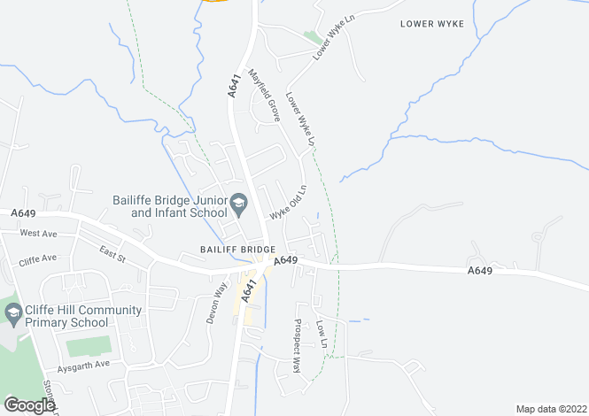 Map for Jacquard Court, Bailiff Bridge, Brighouse