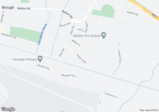 Map for WOODCOTE at The Lavenders, Ruskin Way,