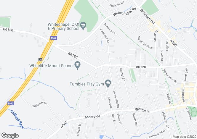 Map for Whitcliffe Road, Cleckheaton, BD19 3AG