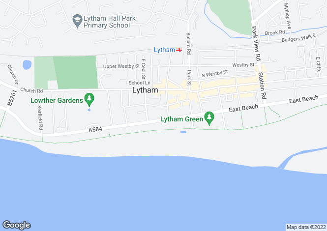 Map for West Beach, Lytham