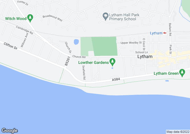 Map for 5 Woodville Terrace, Lytham, Lancashire