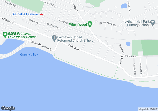 Map for Flat 2, 12 Clifton Drive, Lytham, Lancashire
