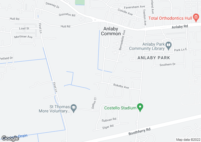 Map for 129, Spring Gardens, Anlaby Common