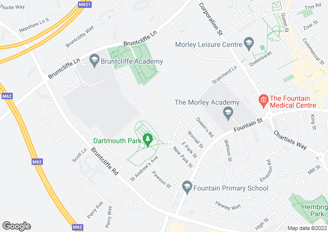 Map for East Park Street, Morley, Leeds