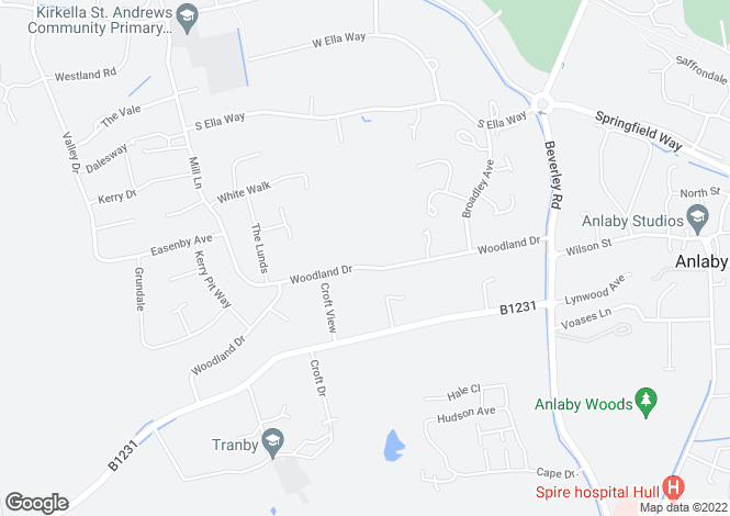 Map for 66 Woodland Drive, Anlaby, HULL, East Yorkshire