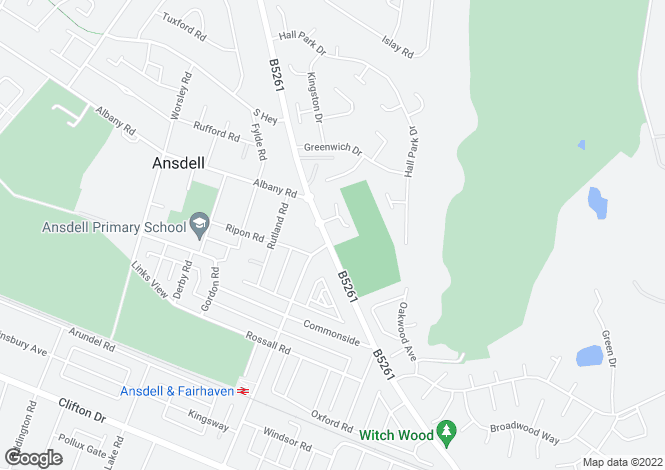 Map for Woodlands View, Ansdell