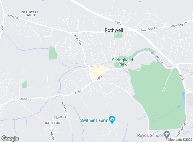 Map for YOUR MOVE, Rothwell