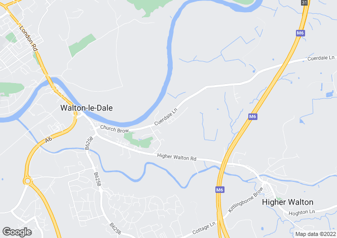 Map for Cuerdale Lane, Walton-Le-Dale, Preston, Lancashire, PR5