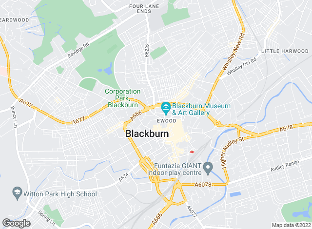 Map for Entwistle Green, Blackburn