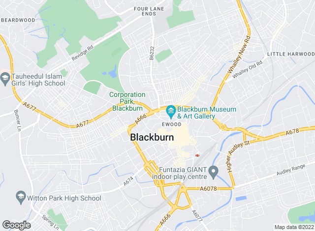Map for Crown Estate & Letting Agents, Blackburn