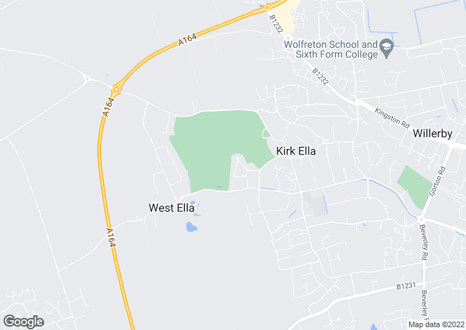 Map for Braids Walk, Kirk Ella, East Yorkshire, HU10