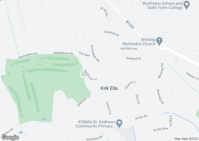 Map for Birkdale Close, Kirk Ella, HU10